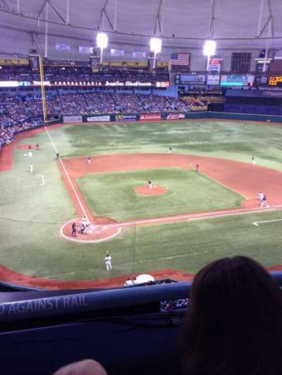 Tropicana Field, section: 306, row: B, seat: 10