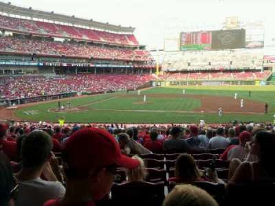 Great American Ball Park, section: 130, row: kk, seat: 11