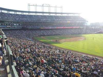 Coors Field, section: 214, row: 1, seat: 1