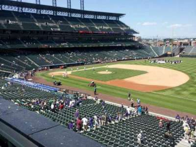 Coors Field, section: 218, row: 1, seat: 10