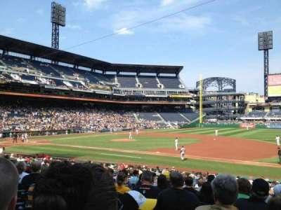 PNC Park, section: 108, row: L, seat: 12