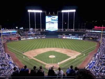 Kauffman Stadium, section: 420, row: AA, seat: 12