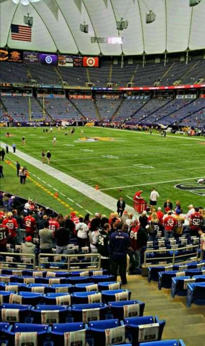 The Metrodome, section: 123, row: 17, seat: 3