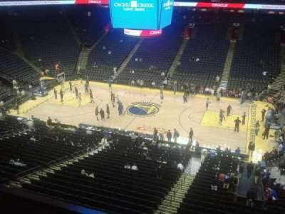 Oracle Arena, section: 231, row: 1, seat: 12