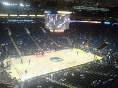 Oracle Arena, section: 219, row: 1, seat: 8