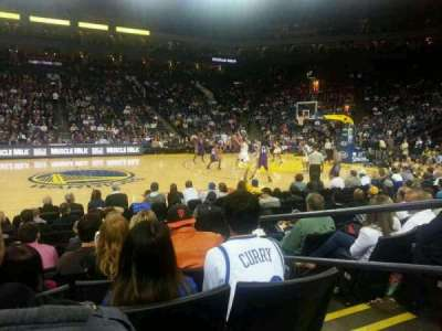 Oracle Arena, section: 115, row: 4, seat: 3