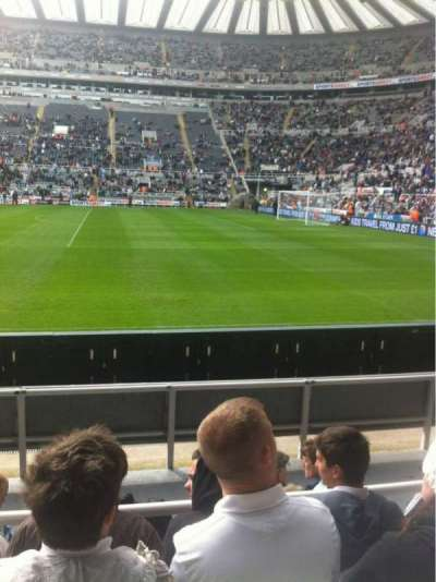 St James' Park, section: A, row: F, seat: 19