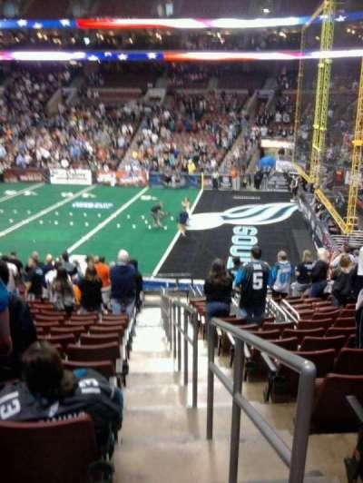 Wells Fargo Center, section: 116, row: 19, seat: 1
