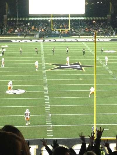 Vanderbilt Stadium, section: K, row: 41, seat: 18