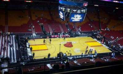 American Airlines Arena, section: 326, row: 9, seat: 18