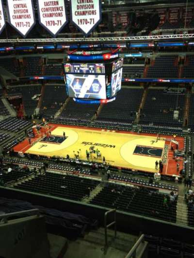 Verizon Center, section: 404, row: G, seat: 1