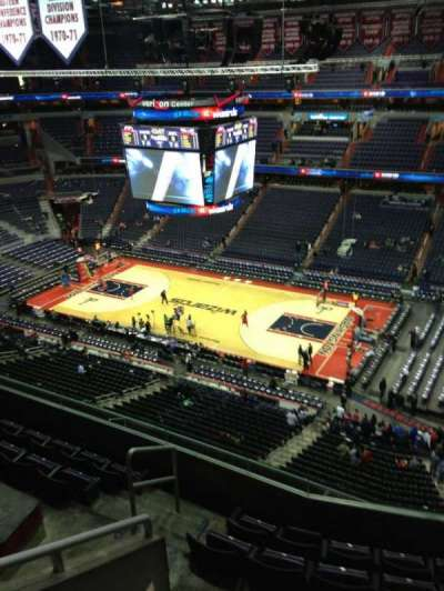 Capital One Arena, section: 405, row: G, seat: 1