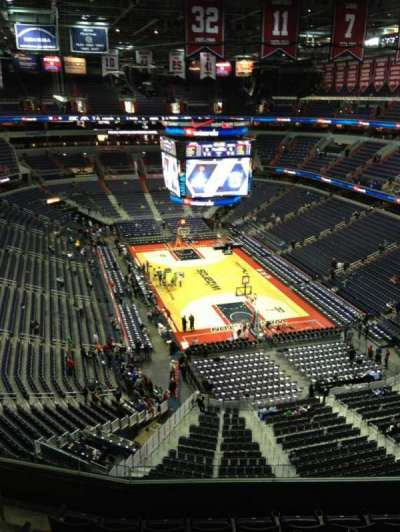 Verizon Center, section: 409, row: G, seat: 1