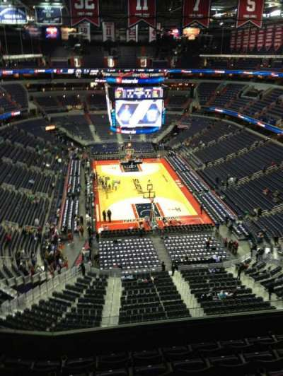 Verizon Center, section: 410, row: G, seat: 1