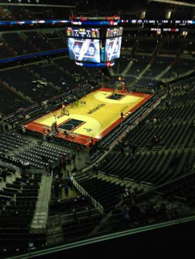 Verizon Center, section: 413, row: G, seat: 1