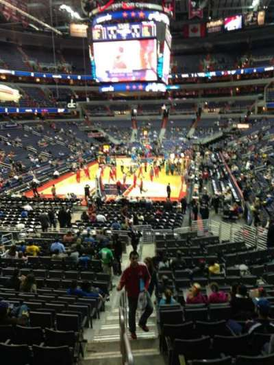 Verizon Center, section: 117, row: R, seat: 20
