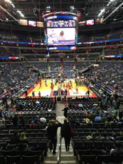 Verizon Center, section: 116, row: R, seat: 20