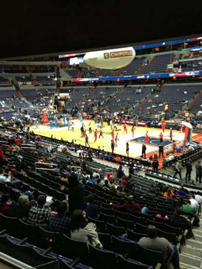 Verizon Center, section: 113, row: R, seat: 20