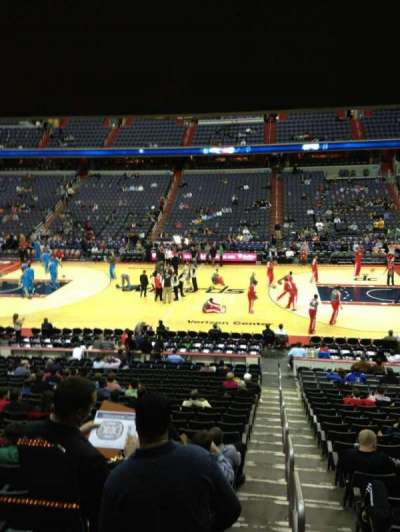 Verizon Center, section: 112, row: R, seat: 20