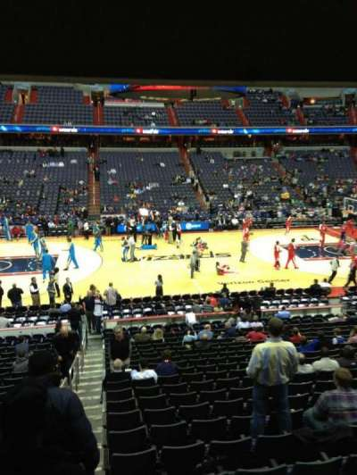 Verizon Center, section: 109, row: R, seat: 20