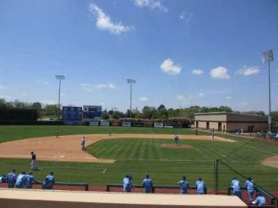 Clay Gould Ballpark, section: 3rd-base bleachers, row: top, seat: aisle