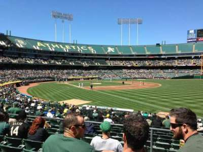Oakland Alameda Coliseum, section: 105, row: 4, seat: 7