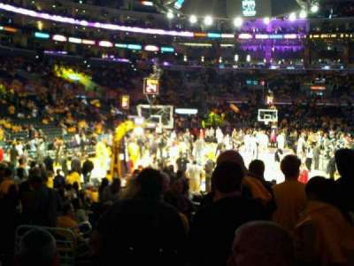 Staples Center, section: 106, row: 10, seat: 4