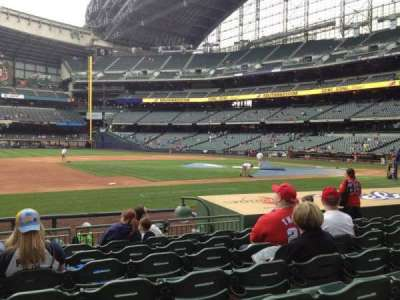 Miller Park, section: 123, row: 11, seat: 15