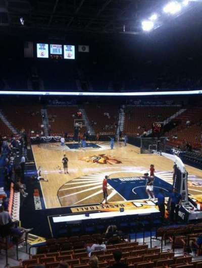 Mohegan Sun Arena, section: 12, row: Q, seat: 9