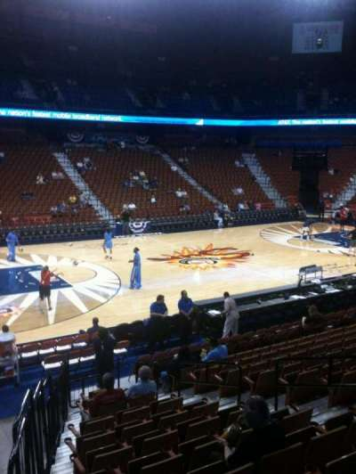 Mohegan Sun Arena, section: 17, row: P, seat: 9