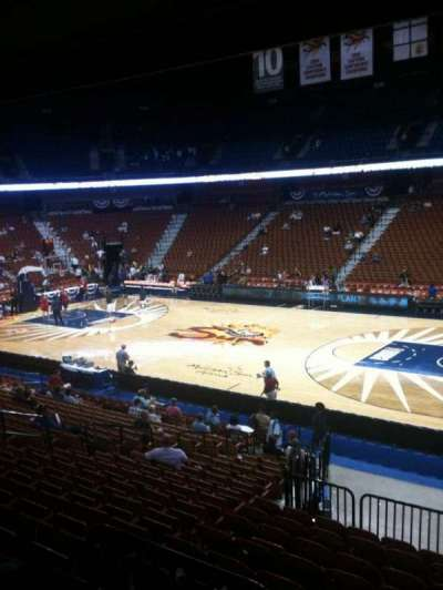 Mohegan sun Arena, section: 23, row: U, seat: 1