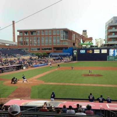 Durham Bulls Athletic Park, section: 208, row: 8, seat: 5