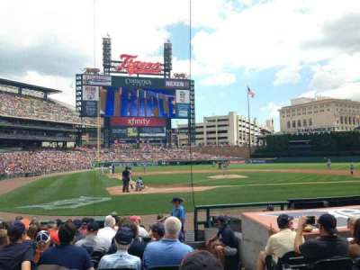 Comerica Park, section: 125, row: 13, seat: 1