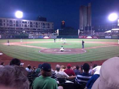 Parkview Field, section: 108, row: M, seat: 5