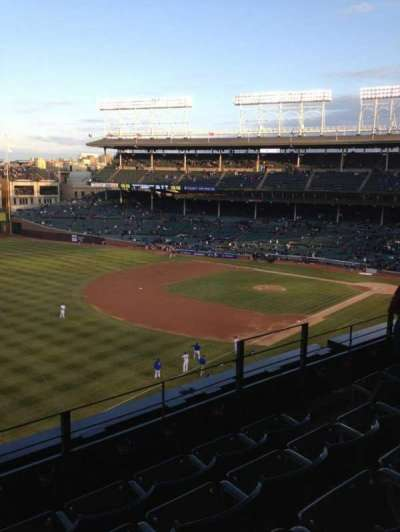 Wrigley Field, section: 406, row: 4, seat: 107