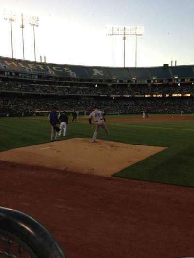 Oakland Alameda Coliseum, section: 107, row: 1, seat: 6