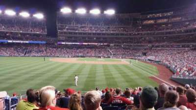 Nationals Park, section: 105, row: T, seat: 19