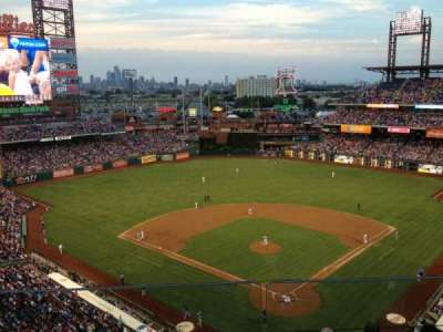 Citizens Bank Park, section: 421, row: 2, seat: 22