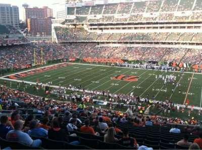 Paul Brown Stadium, section: 207, row: 19, seat: 6