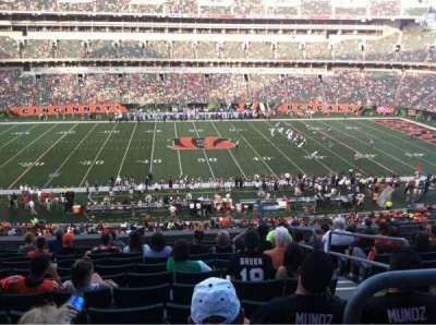 Paul Brown Stadium, section: 211, row: 12, seat: 3