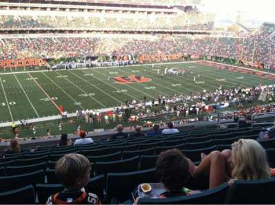 Paul Brown Stadium, section: 214, row: 13, seat: 10