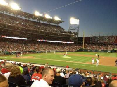 Nationals Park, section: 130, row: Y, seat: 10