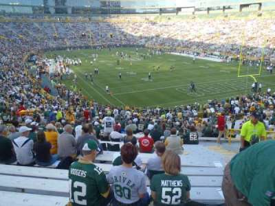 Lambeau field section 134 home of green bay packers