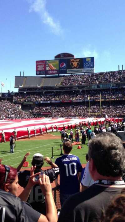 Oakland Alameda Coliseum section 123