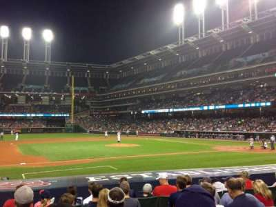 Progressive Field, section: 163, row: N, seat: 7