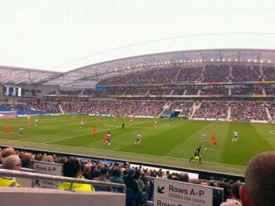 American Express Community Stadium, section: family stand, row: u, seat: 540