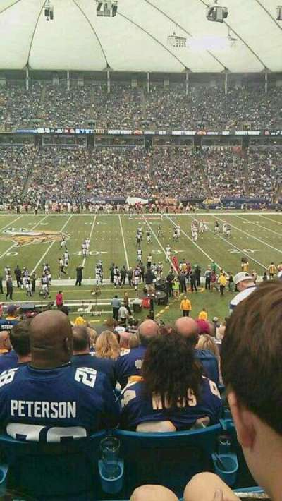 Mall of America Field, section: 108, row: 28, seat: 21-24