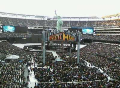 MetLife Stadium, section: 221a, row: H, seat: 8