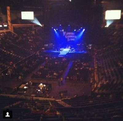 Bridgestone Arena, section: 203, row: G, seat: 4