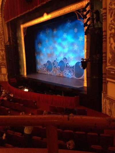 Cadillac Palace Theater, section: Dress Circle R, row: AA, seat: 4
